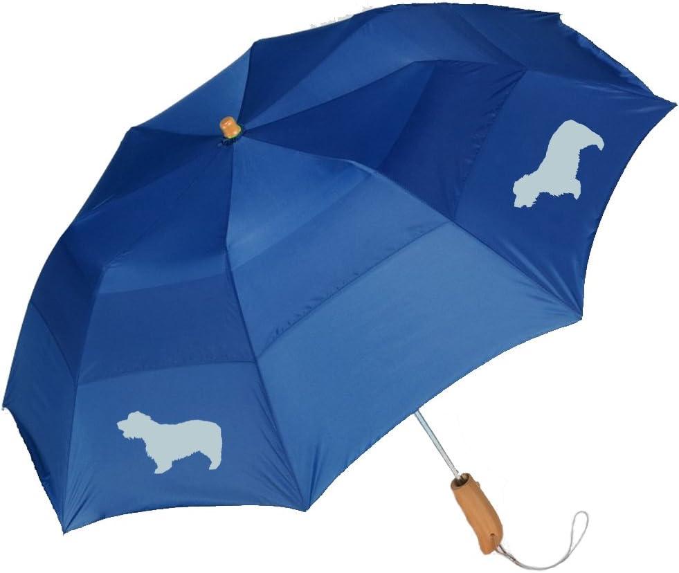 Peerless 43 Arc auto open folding umbrella with Glen of Imaal Terrier Silhouette