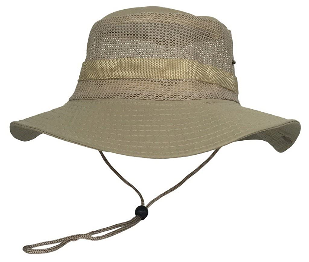 Toyobuy Outdoor Fisherman Hat Mesh Breathable Jungle Hat