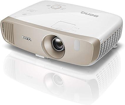 BenQ W2000 Proyector inalámbrico (1080P Full HD, DLP, 2000 lúmenes, relación de alto contraste 15000: 1, bocina de 20 vatios, 3D, serie CinePrime), Blanco/Oro: Benq: Amazon.es: Electrónica