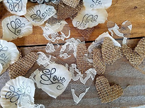 Country wedding centerpieces amazon burlap and lace silk rose petals flower girl throw rustic wedding aisle confetti table scatter by burlap and bling design studio junglespirit Gallery
