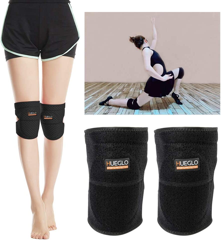 HUEGLO Protective Knee Pads for Dancers, Volleyball Knee Pad for Girls, Elbow Pad for Avoid Floor Burns & Bruising, Large, 1Pair : Sports & Outdoors