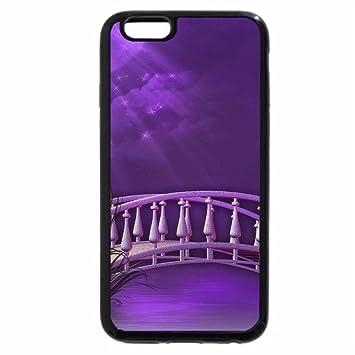 super popular 95ad3 72605 iPhone 6S / iPhone 6 Case (Black) Purple Moonlight Shone Bridge ...
