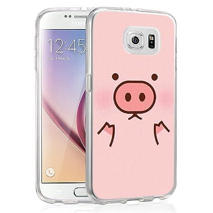Amazon.com: Piña Carcasa para Galaxy S6, gifun ...