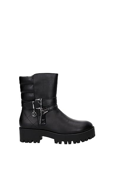 9250326A41500020 Armani Jeans Chaussure mi montantes Femme Cuir Noir ... 8ac6f8a81d8