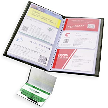 Amazon senhai business card book holder with stainless steel senhai business card book holder with stainless steel pocket cardcase pu leather credit id name colourmoves