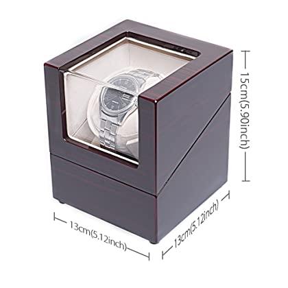 [Upgrades]CHIYODA Single Watch Winder with Quiet Motor-12 Rotation Modes