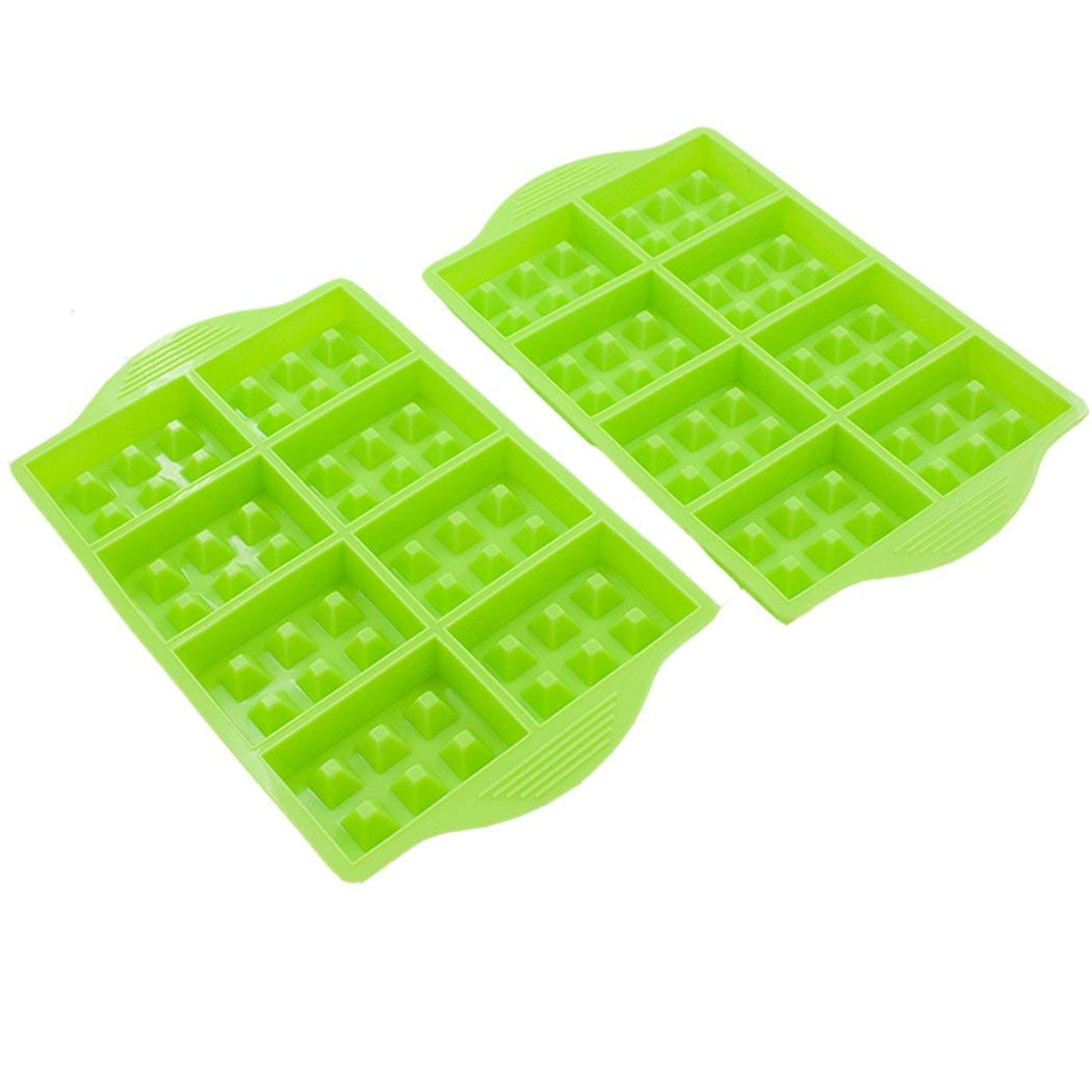 8-Cavity Silicone Waffle Stick Pan, Nupico Waffle Cone Bowl Mold, Cookie, Chocolate, Candy and Gummy Mold, Baking Mold Tool
