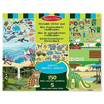 Melissa & Doug Reusable Sticker Pad: Habitats - 150+ Reusable Stickers