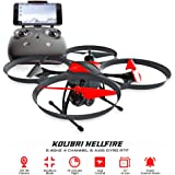 Kolibri Hellfire - Best Quadcopter Drone Wide-Angle Camera with Live Video Feed FPV 720P HD Headless Mode 2.4GHz 4 Channel 6 Axis Gyro RTF with Altitude Hold Function