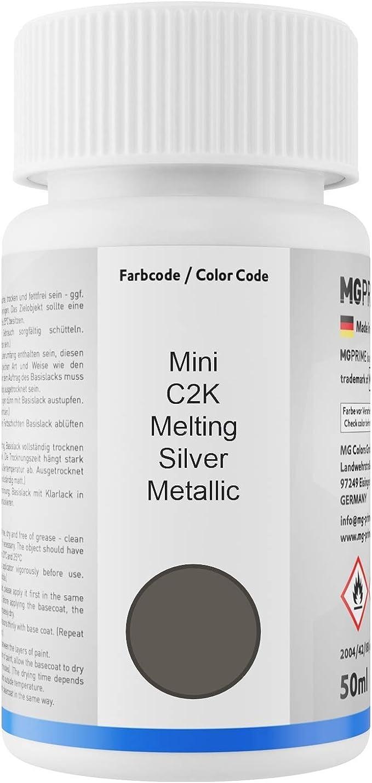 Mg Prime Autolack Lackstift Set Für Mini C2k Melting Silver Metallic Basislack Klarlack Je 50ml Auto
