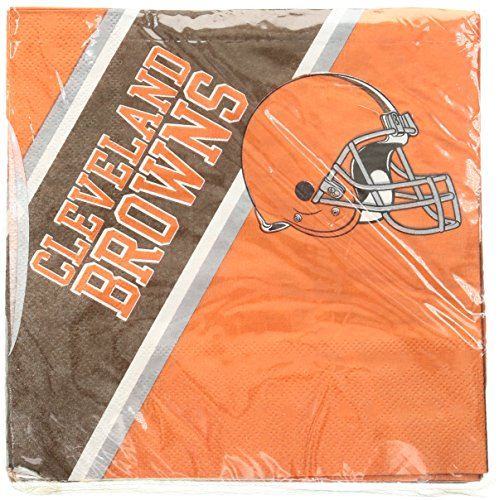 NFL Cleveland Browns Disposable Paper Napkins, Pack of 20 - http://coolthings.us