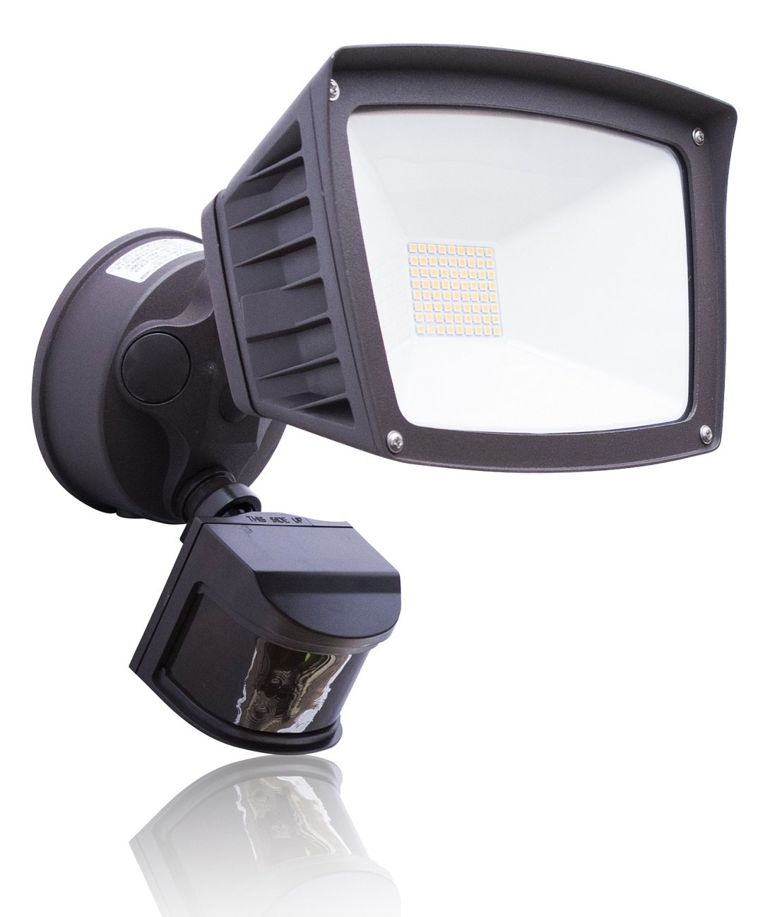 4,800 Lumens – LED Wall Flood Light with Motion Sensor – Bronze – 5000K Bright White – LED Wall Lights – ETL DLC Listed – Wall Light LED – Wide Angle Floodlight