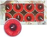 Hana Blossom Parrafin Wax Handmade Fairtrade Scented Poppy Tealight Candle in Designs Gift Set