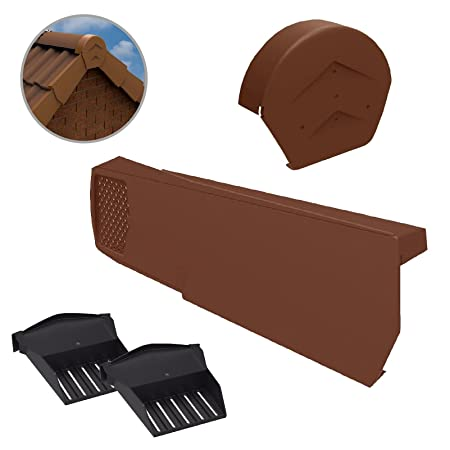 Klober Dry Verge Right Hand Units 16, Terracotta Plastic Roof Line End Cap for Gable//Apex