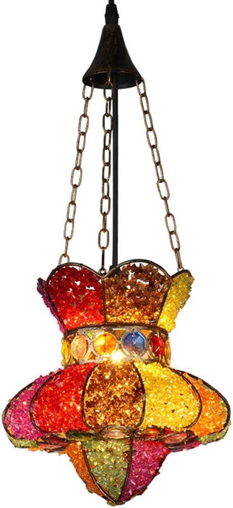 SXFYHXY Araña Tiffany Style Diseño de Piedras Preciosas Lámpara de Techo Colgante Pantalla de Color Pantalla de Barra de la Sala de Estar