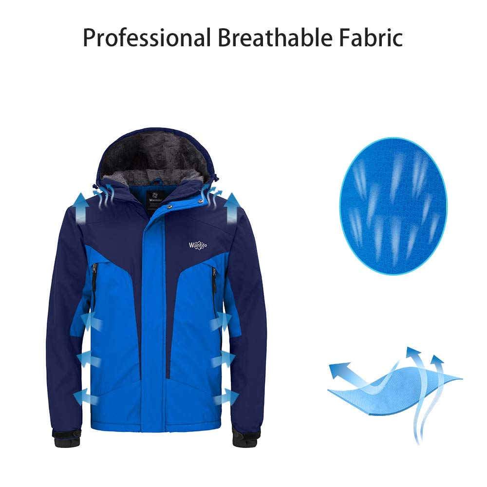 Amazon.com  Wantdo Men s Windproof Ski Fleece Jacket Waterproof Rainwear  Casual Parka Insulated Winter Coat with Hood  Clothing 0166317f4