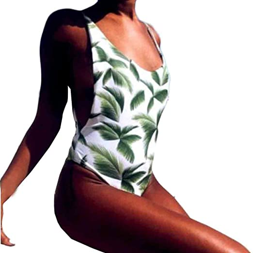 3871c182e9 Coohole New Fashion Women Sexy One-piece Swimsuit Backless Swimwear  Jumpsuit (S)