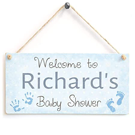 Hunnry Welcome To Richards Baby Shower Letrero de Placa de ...