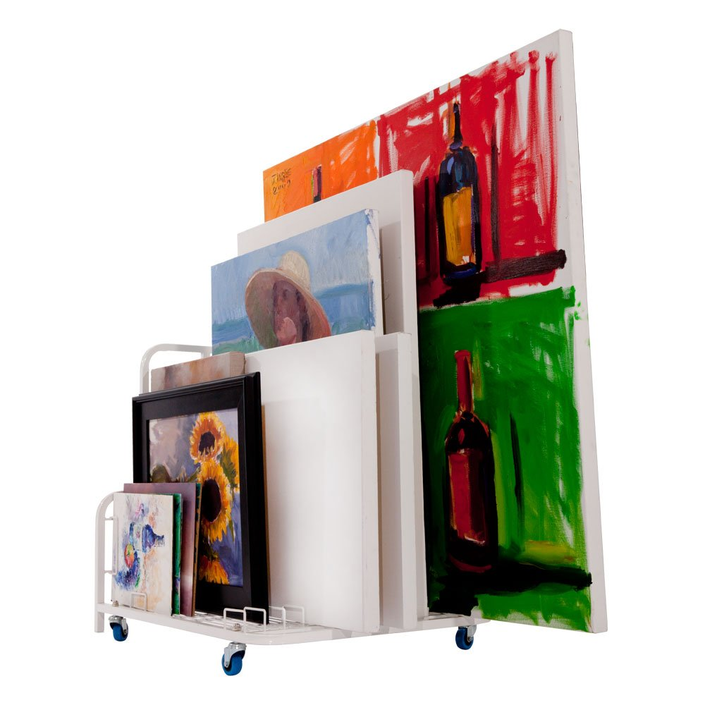 Dryden Art and Canvas Keeper Large Floor Model with Casters/Handle 33x25.5x30.5''