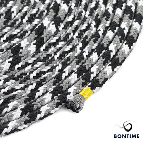 BONTIME All-Purpose Soft Cotton Rope - 32 Feet Length,1/3-Inch Diameter(Black & Grey & White,Pack of 3) by BONTIME (Image #5)