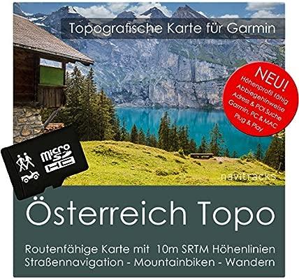Austria Garmin tarjeta Topo 4 GB MicroSD. Mapa Topográfico ...