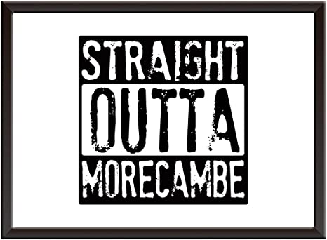 Straight Outta Compton Any Word Personalised Wall Art Print Poster Home Design
