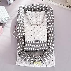 Ukeler Baby Travel Bed, Super Breathable & Hypoallergenic Portable Newborn Infant Bassinet Nest for Cosleeping