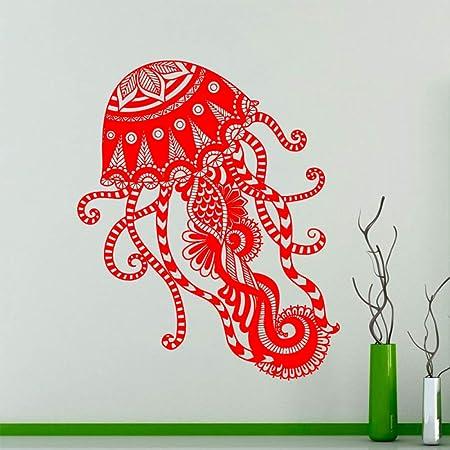 guijiumai Patrón de Medusas Tatuajes de Pared Animales Marinos ...