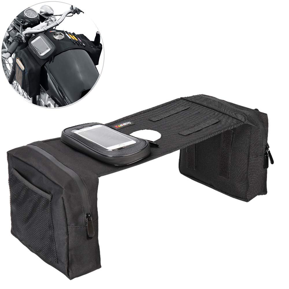 KEMIMOTO Motorcycle Saddle Bags Bicycle Bike Travel Panniers Bags (black) VicsaWin