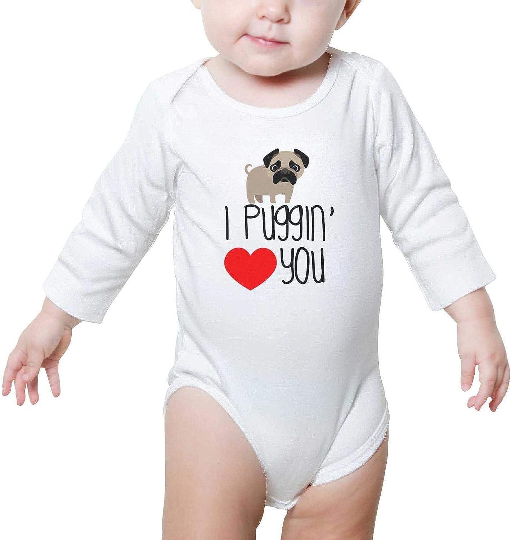 SHUOCDAH Pug Puppies Funny Pug Baby Girls Beautiful Newborn Clothes