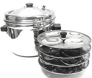 Happy Home Stainless Steel Idli Cooker Idli Maker (4 Rack)