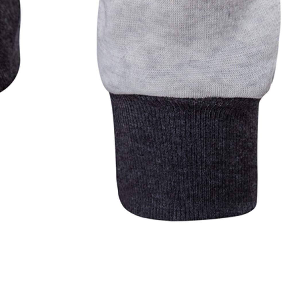 Mens Hooded Jacket,Solid Thermal Double Zipper Sweater Hooded Overcoat Zulmaliu