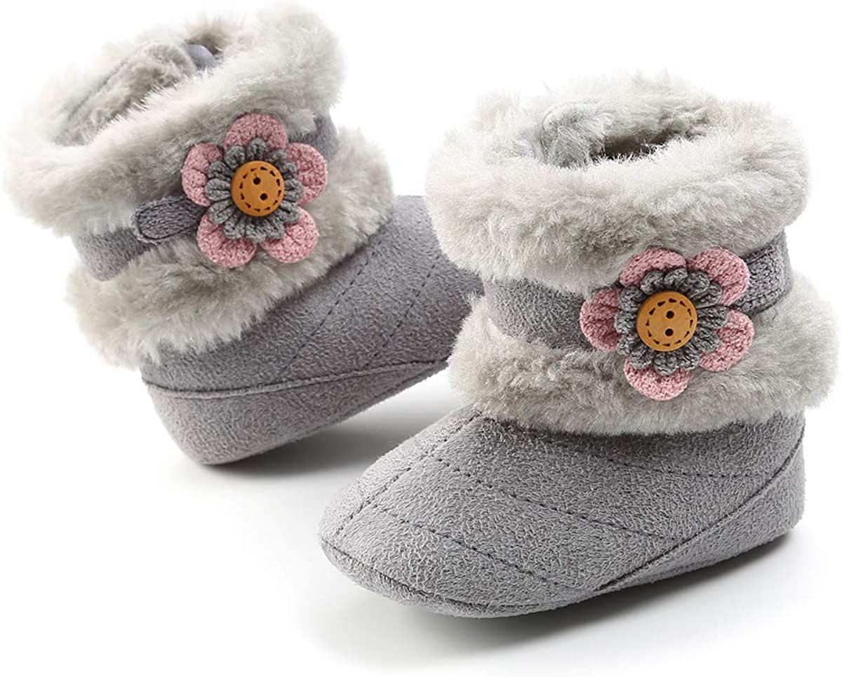 New 0-18M Newborn Baby Toddler Infant Boy Girl Winter Warm Snow Boots Crib Shoes