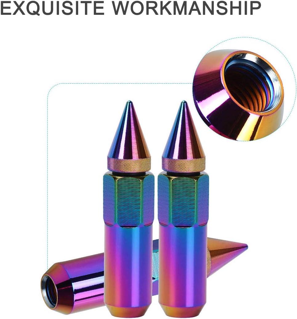 60mm Tall Fits for Acura MDX//NSX//TL//TSX BMW 330Ci// 525i// 750Li// M6// X5 Honda Toyota1994-2010 112289-5206-1500261 12x1.5 Thread SCITOO 20PCS Colorful Lug Nuts for 3//4 Drive Close End