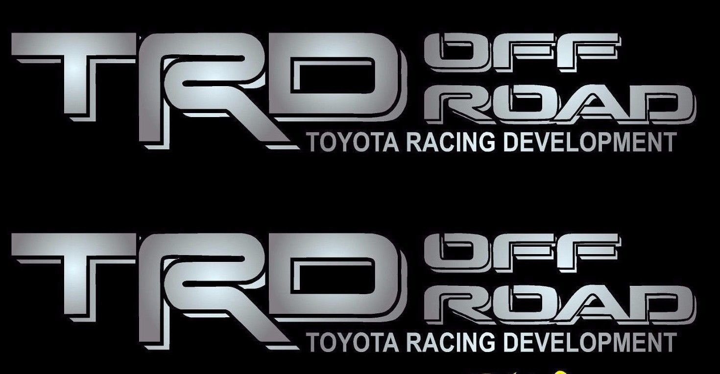 Toyota TRD Sport Black Red Decals Vinyl Stickers Graphics Letters Side Pickup Tacoma 4X4 Racing Development Truck Auto Car Compatible Design Use for