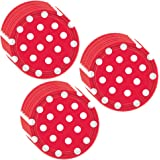 Red Polka Dot Party Dessert Plates - 24 Guests