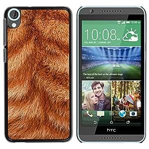 Estuche Cubierta Shell Smartphone estuche protector duro para el teléfono móvil Caso HTC Desire 820 / CECELL Phone case / / Fur Close Orange Ginger Cat Stripes Animal /