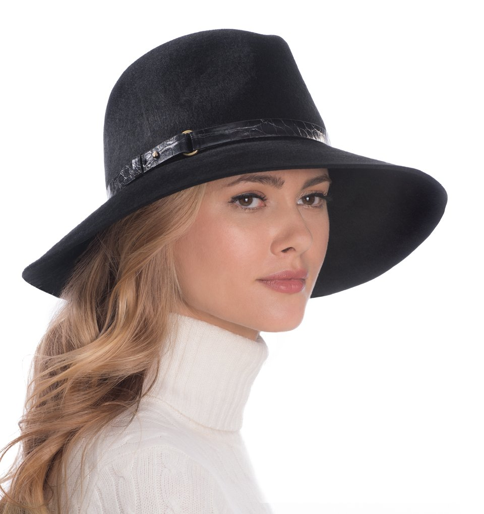 Eric Javits Luxury Fashion Designer Women's Headwear Hat - Fanny - Black by Eric Javits