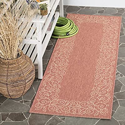 Safavieh Courtyard Collection CY4038D Brown Natural and Black Indoor/ Outdoor Area Rug