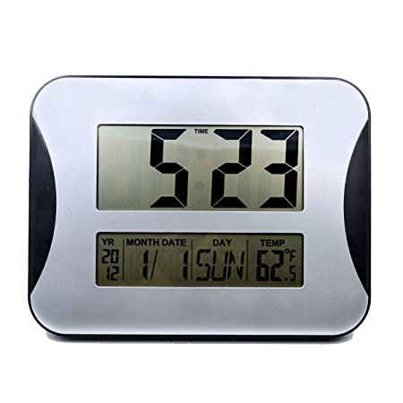 digital office wall clocks digital. Hippih Large LCD Digital Wall Clocks Electronic Alarm Big Digits Time Calendar Temperature Display Office
