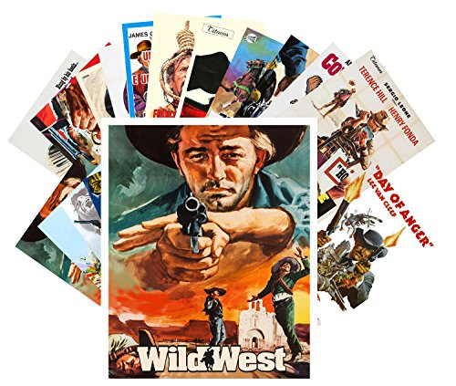 Postcard Set 24 cards Western Vintage Movie Poster Wild West Cowboys Indians Action