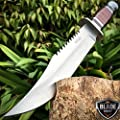 Wood G'store Hunting Survival Skinning Fixed Blade Knife Full Tang Army Bowie