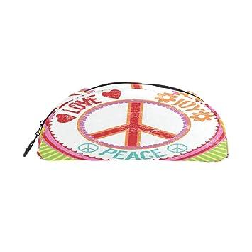 WowPrint Estuches para lápices, signo de paz, amor con ...