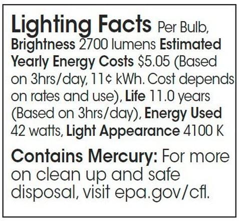 Lamp Cool White 150 Watt Equivalent 42W TCP 4894241k CFL Pro A Full Spring Lamp Light Bulb 4100K