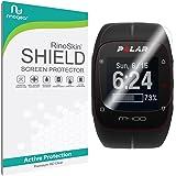 [6-PACK] Polar M400 Screen Protector Full Coverage [Military-Grade] RinoGear Premium HD Invisible Clear Shield Anti-Bubble