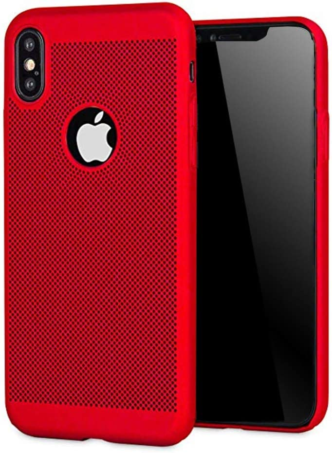 UGY Compatible with iPhone Xs Case, iPhone X Case, Breathable Heat Dissipation TPU Soft Shell Anti-Scratch Protector Cover for Apple iPhone Xs/X - 5.8 inches (Red)