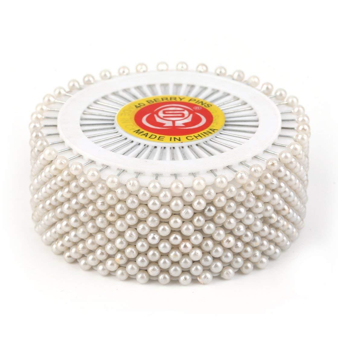 BlackPJenny 480Pcs Multi Round Pearl Head Dressmaking Pins Weddings Corsage Florists Sewing Tools Women Mini Ball Handmade Crafts Accessory