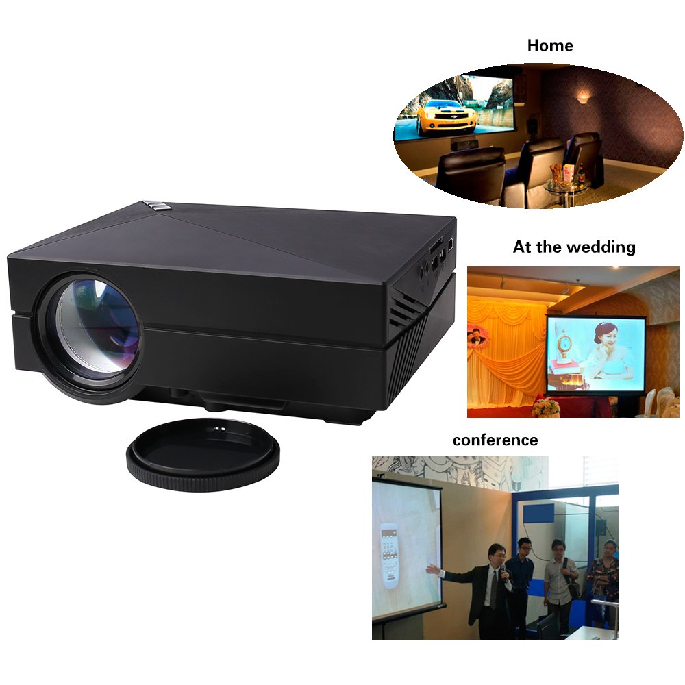 Flylinktech® GM60 Multimedia Mini proyector LED con 800 * 480 100 ...
