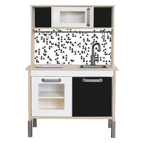 Adesivo adatto per il tuo IKEA bambini Cucina DUKTIG (colore nero ...