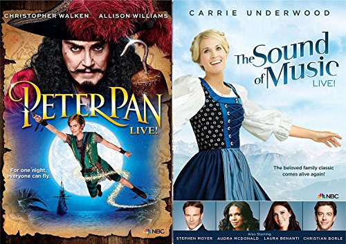 Peter Pan Live Special Edition + The Sound of Music Live Musical Family Bundle DVD set